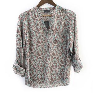 NWT The Limited Blouse Mint Printed Top